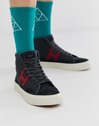 Huf Hupper 2 Hi Top Trainers In Black