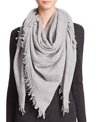 Bloomingdale's C By Bloomingdales Cashmere Solid Woven Scarf Gray