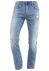 Hollister Co. Slim Fit Jeans Destroyed Denim Blue Denim