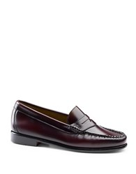 G.H. Bass Whitney Weejuns Leather Penny Loafers Red