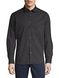 Civil Society Point Collar Button Down Shirt Black
