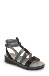 Jambu Piper Sandal Black Leather