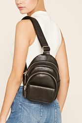 Forever 21 Faux Leather Sling Backpack