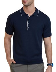 Nautica Classic Fit Tipped Sweater Polo True Navy