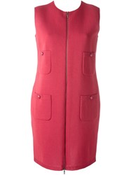 Chanel Vintage Sleeveless Knit Dress Pink And Purple