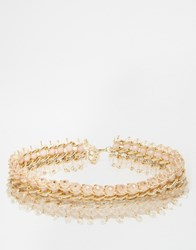 New Look Premium Beaded Collar Necklace Nude