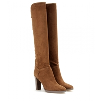 Loro Piana Sharmaine Suede Boots Brown
