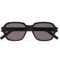 Saint Laurent Square Frame Acetate Sunglasses Black