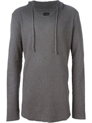 Thom Krom Hooded Sweater Grey