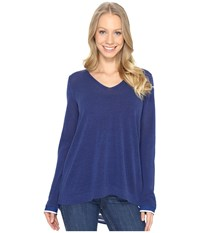 Nydj Twofer Sweater Dark Atlantis Women's Sweater Blue