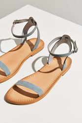 Urban Outfitters Hazel Suede Thin Strap Sandal Grey