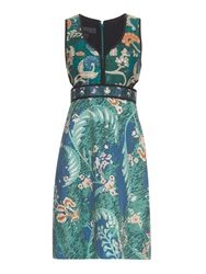Burberry Floral Print Cotton And Silk Blend Dress
