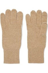 Autumn Cashmere Knitted Gloves Camel