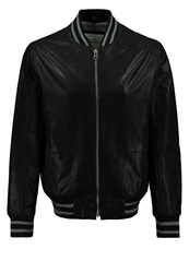 Tom Tailor Leather Jacket Black