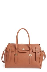 Sole Society Faux Leather Weekend Satchel Brown