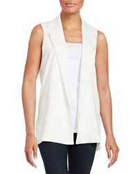 Design Lab Lord And Taylor Open Front Vest Ivory