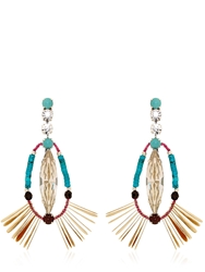 Reminiscence Amazonia Earrings Brown Turquoise
