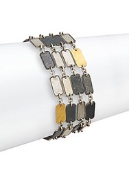 Gurhan Contour Sterling Silver And 24K Yellow Gold Rectangle Bracelet Silver Gold