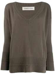 Lamberto Losani Loose Fit Jumper Green