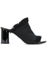 Proenza Schouler Mid Heel Slide Women Cotton Leather 39 Black