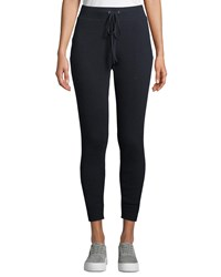 Enza Costa Cashmere Thermal Drawstring Jogger Pants Blue