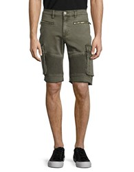 Reason Inspector Army Cargo Shorts Dark Green