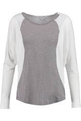 Clu Paneled Cotton And Modal Blend Top