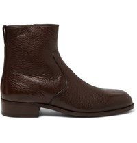 Tom Ford Wilson Full Grain Leather Boots Chocolate