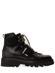 Dsquared Hiking Leather Ankle Boots Black