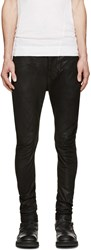 Julius Black Skinny Waxed Jeans