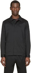 Christopher Kane Black Stretch Poplin Jacket