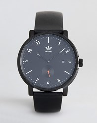 Adidas Z12 District Leather Watch In Black