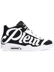 Philipp Plein Logo Appliqued Sneakers Men Calf Leather Leather Rubber 41 Black