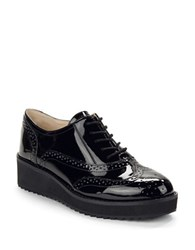 Nine West Vinata Wingtip Platforms Black