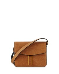 Hayward Tooled Leather Mini Crossbody Bag Tan