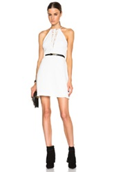 Zimmermann Crepe Braid Dress In White