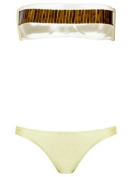 Adriana Degreas Sheer Bikini Set Green