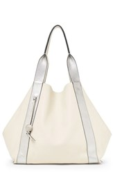 Botkier Baily Reversible Calfskin Leather Tote Ivory Cream