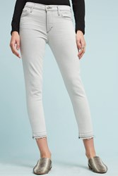 Anthropologie Citizens Of Humanity Rocket High Rise Skinny Cropped Jeans Light Grey