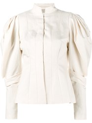 Dries Van Noten Banim Fitted Jacket Nude And Neutrals
