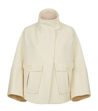 Theory Christoris High Neck Swing Jacket Female White
