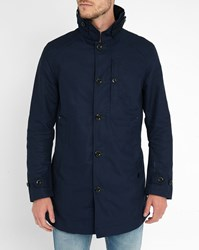 G Star Navy Garber Trench Coat Blue