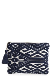 Sole Society Geometric Knit Pouch