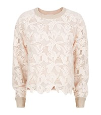 See By Chloe Lace Front Knit Jumper Female Neutral