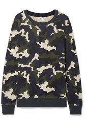 The Upside Sid Camouflage Print Cotton Terry Sweatshirt Army Green