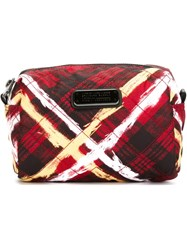 Marc By Marc Jacobs Plaid Print Make Up Bag Red