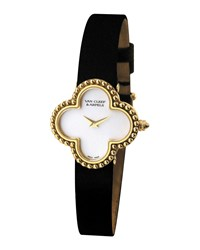 Vintage Alhambra Yellow Gold Watch Small Van Cleef And Arpels Yellow Gold
