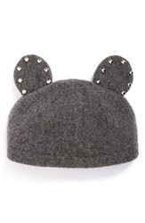 Women's Helene Berman Studded Ears Wool Blend Cap