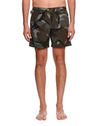 Tom Ford Camouflage Print Swim Trunks Multi