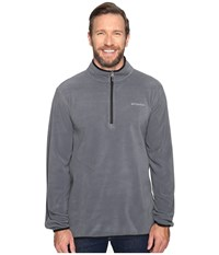 Columbia Big Tall Ridge Repeat Half Zip Fleece Black Men's Sweatshirt